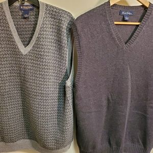 Lot of 2ea Brooks brothers wool sweater vest XL